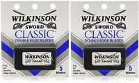 Wilkinson Sword Classic Double Edge Razor Blades (2 Packs Of 5 = 10 Blades)