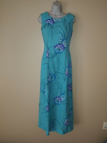 Vintage Strawberry Circus Long Dress Hawaii Floral