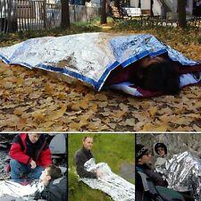 Useful Emergency Survival Outdoor Kit Rescue Thermal Space Sleeping Bag Blanket