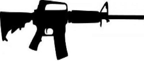 AR15 vinyl decal//sticker truck car window protection gun assault rifle ammo