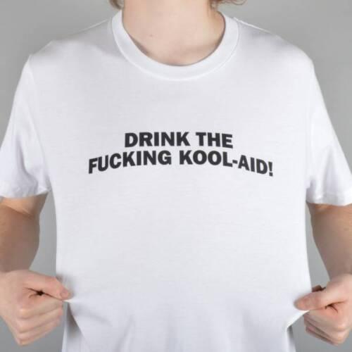 JIM GRECO NEW T SHIRT DRINK THE KOOL AID WHITE S M L XL HAMMERS SKATEBOARD