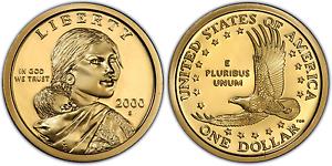 2000-S-Proof-Sacagawea-Native-American-Dollar-US-Coin-Gem-Deep-Cameo