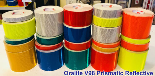 "Oralite V98 /""WHITE/"" Conformable Prismatic Reflective Tape"