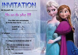 Détails Sur 5 Ou 12 Cartes Invitation Anniversaire Reine Des Neiges Réf 05