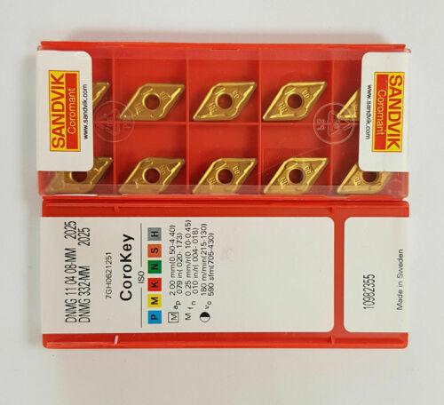 Sandvik 10 pcs  DNMG 332-MM 2025  Carbide Inserts  DNMG 110408-MM 2025