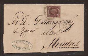 1863-Envoltorio-circulado-de-VALLADOLID-a-MADRID-Edifil-58-II-VC-22-00