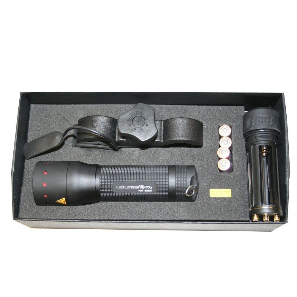 LED Lenser P7 Torch con kit de montaje con filtros de Color gratis