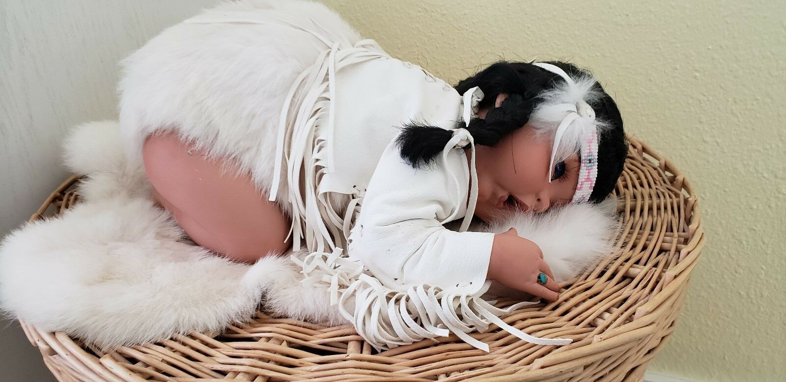 Native American Muñeca De Porcelana Ltd Ed Norma Williamson Kunz  250 Con Cert authen