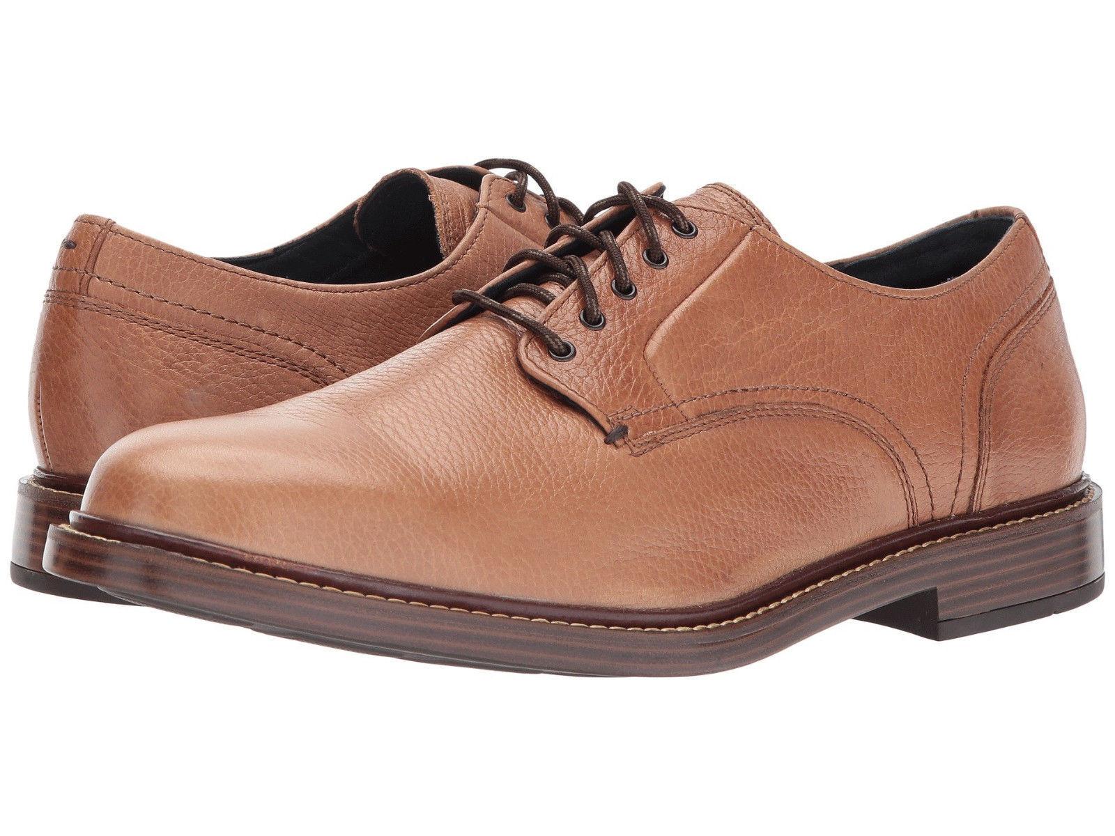 Cole Haan Men's Adams Grand Plain Toe US 10 M Tan Leather Oxfords