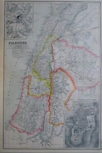 1919-MAP-PALESTINE-PLAN-OF-JERUSALEM-MORIAH-SAMARIA-JUDAEA-PERAEA