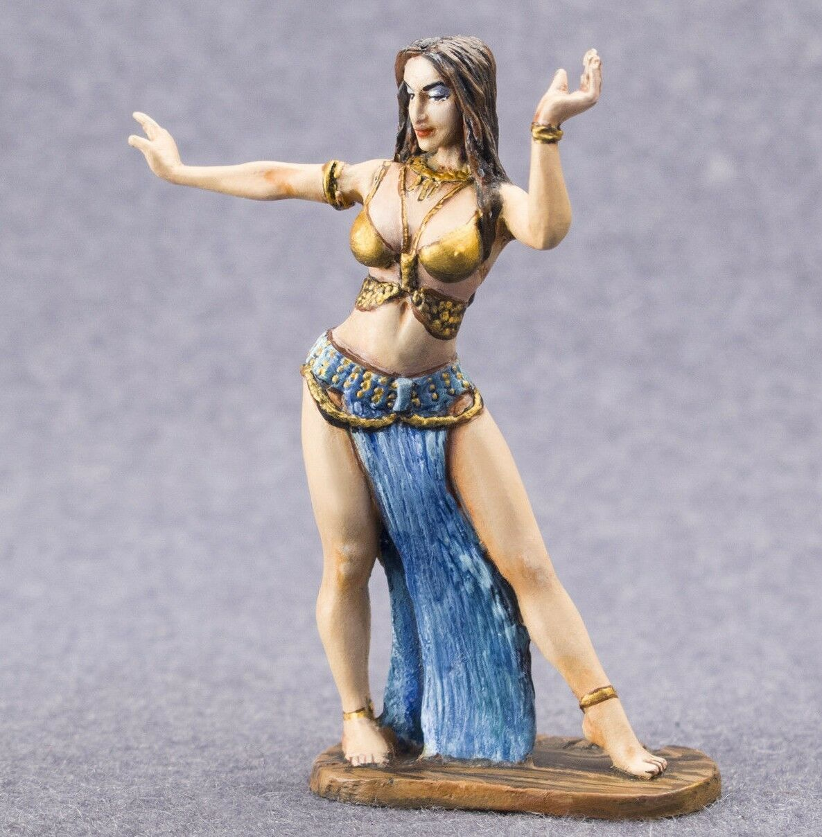 Pained Toy Soldiers Miniature Dancer Female 1 32 metal figure 54mm girl