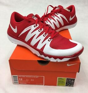 Nike Free Trainer Ohio State Buckeyes 5.0 V6 AMP Men's Shoes - Sizes 7-14 OSU