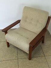 70er Jahre Teak Sessel Easy Chair Loungechair Glostrup Denmark Danish Design