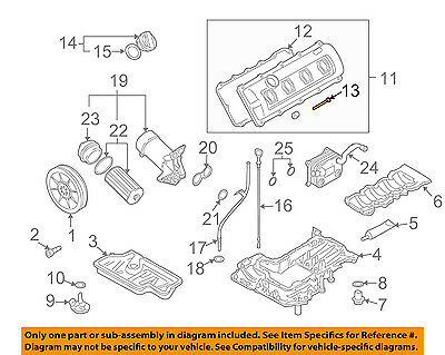 Audi OEM S Engine Partsvalve Cover Bolt GA EBay - Audi oem parts
