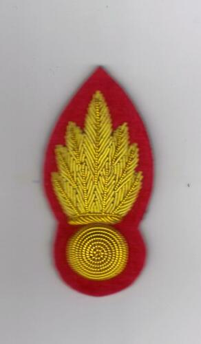 ROYAL ENGINEERS SERGEANTS GRENADE FOR NO 1//MESS DRESS GOLD ON RED