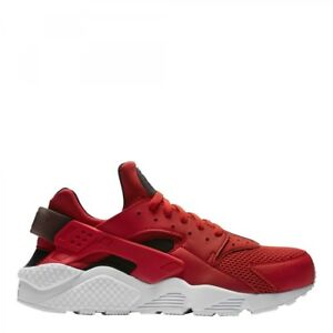 buy online 1ea25 26efe Image is loading Nike-Air-Huarache-Habanero-Red-Black-and-White-