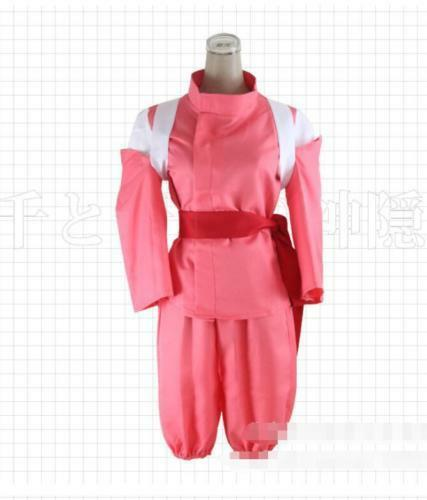 Anime Spirited Away Chihiro Cosplay Costume Pink Costumes Cos Girls Fancy