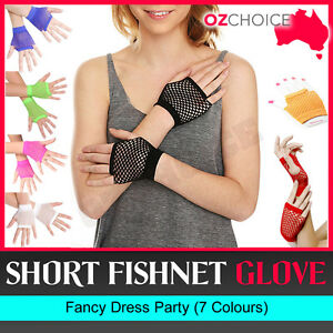 New-Short-Fishnet-Fingerless-Gloves-Fancy-Dress-Party-Dance-70s-80s-Ladies-Glove