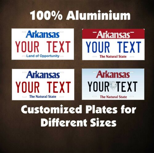 Arkansas State Custom Auto OR Motorcycle Novelty Personalized License Plates Tag