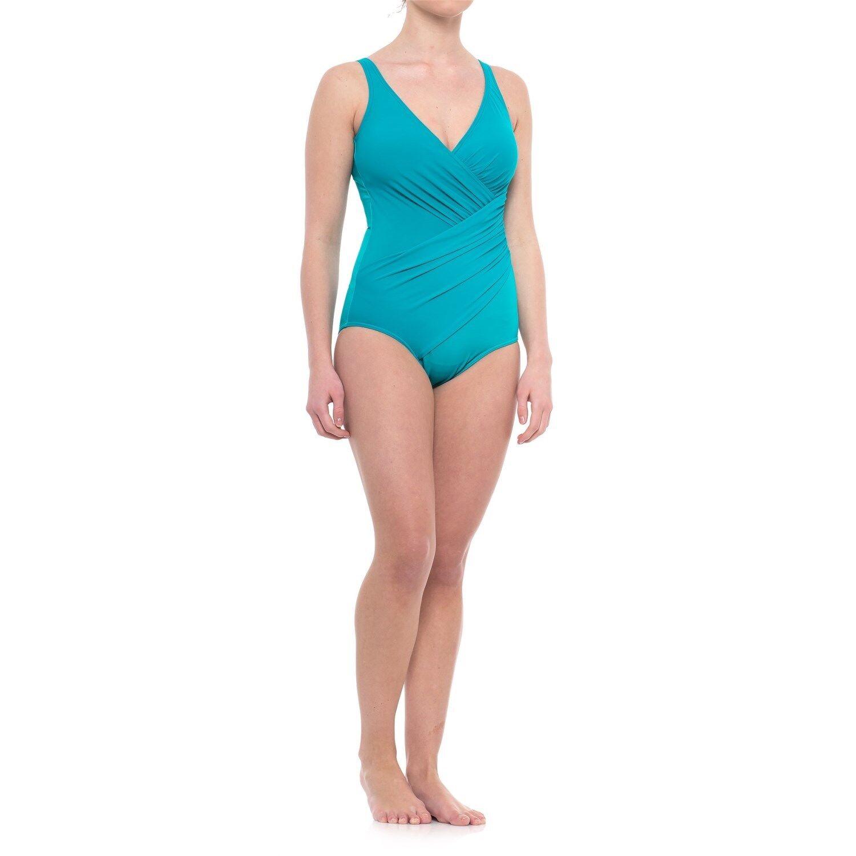 NEW MIRACLESUIT  150 Retail 10 40 Oceanus Lagoon Teal bluee 1 PC SWIMSUIT