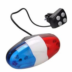 6-LED-Police-Feu-avant-Light-Sonette-4Bruit-Alarme-Siren-electrique-Velo-Bike