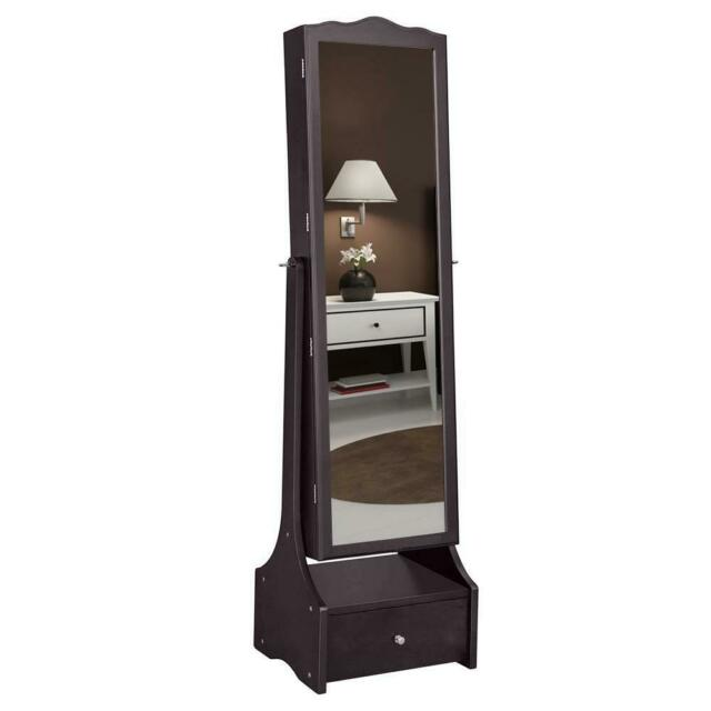 Jewelry Makeup Armoire With Led Lights