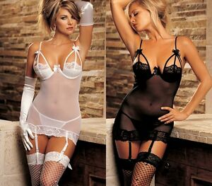 7b615702c Image is loading Sexy-Underwear-Sheer-Lace-Underwear-Camisole-Babydoll-Sexy-