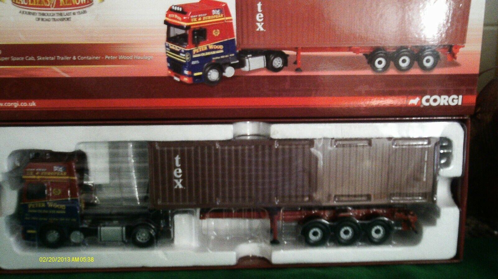 Corgi moderno pesado transporte CC13216 DAF Super spaca Peter Madera Escala 1 50