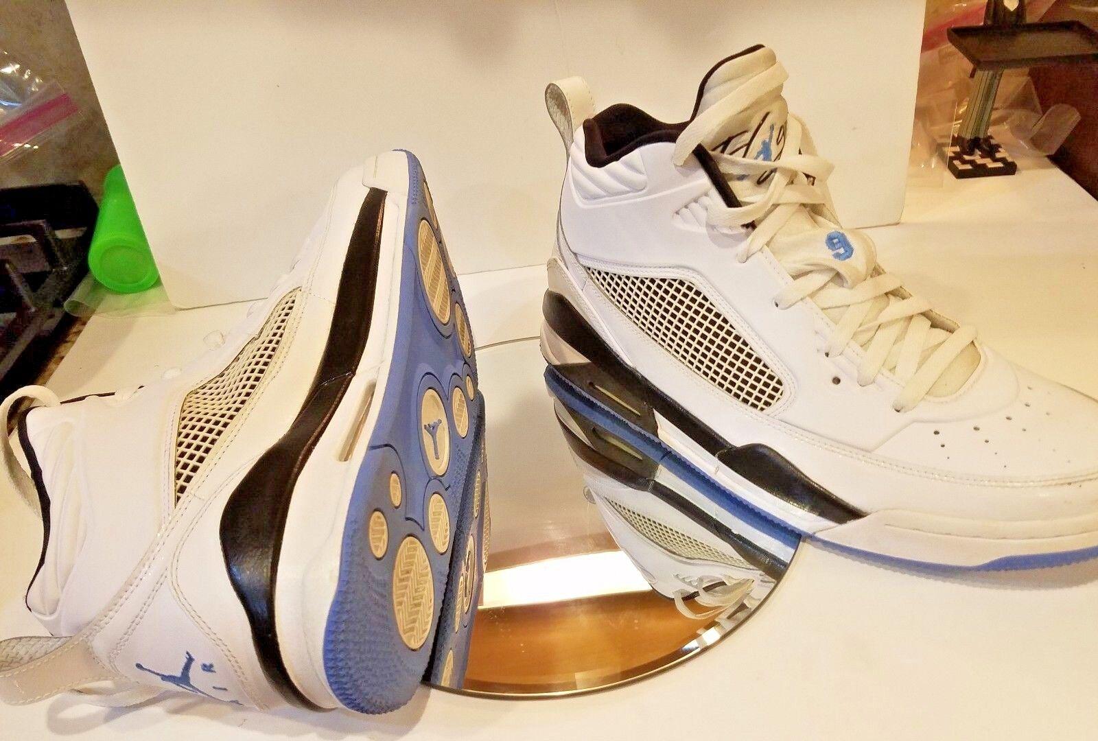 58accdd8fbc24 Nike Air Jordan Flight Flight Flight 9 High tops Navy Blue White Retro Men s  Size 12 a92629