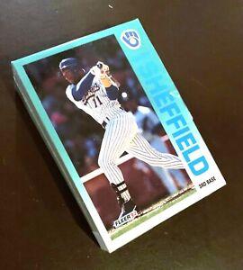 50) GARY SHEFFIELD (HOF?) Milwaukee Brewers 1992 Fleer Baseball Card #188 LOT