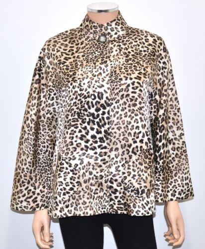 SPIEGEL Leopard Print 100% Silk Elegant Sexy Cape