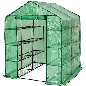 Invernadero de jardín con estante vivero casero plantas cultivos 143x143x195cm