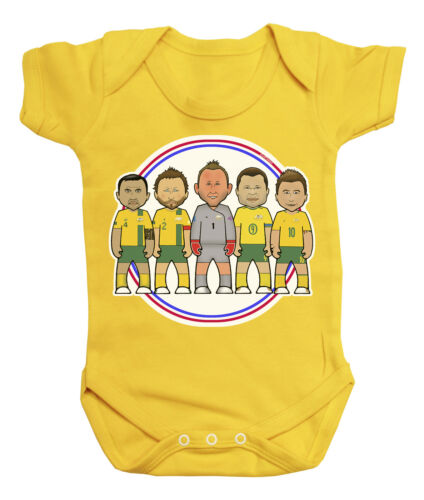 VIPwees Babygrow Australia Football Legends Boys /& Girls Baby Bodysuit