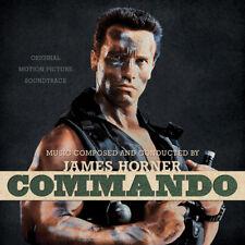 Commando Soundtrack 2 LP Bone Colored Black Splatter Vinyl Horner Ltd