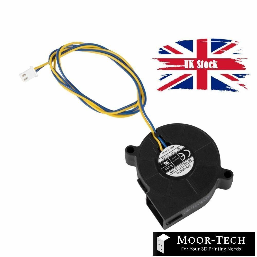Brushless 24V 5015 Blower Fan DC 0.12A Cooling Fan for 3d printers