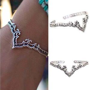 Bohemian-Antique-Silver-Statement-Charm-Frauen-Manschette-Armreif-Bracelet-JeXUI