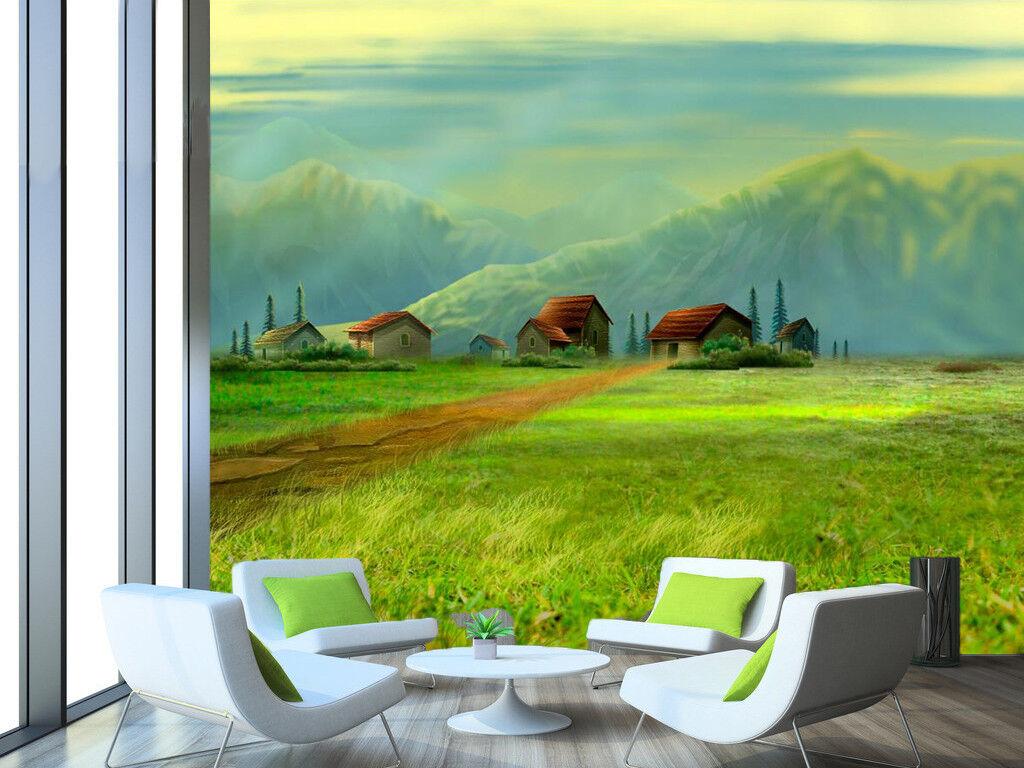 3D Meadow Sky 448 Wallpaper Murals Wall Print Wallpaper Mural AJ WALL UK Summer