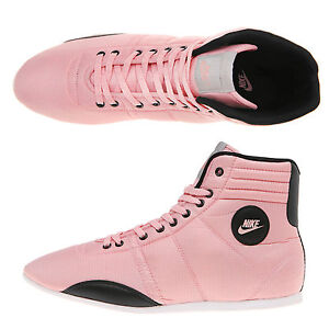 Nike Women S Hijack Mid High Top Trainers Shoes Pink Black Sports