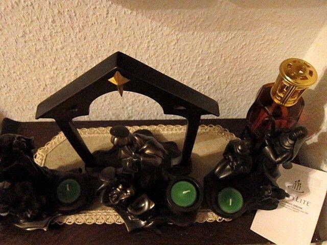 PARTYLITE PARTYLITE PARTYLITE WeihnachtsKRIPPE 4 'tlg Maria Josef König Schäfer Tor Teelicht BRONZE dd9386