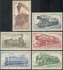 Czechoslovakia 1956 Steam Engines/Trains/Rail/Railways/Transport 6v set (n43448)