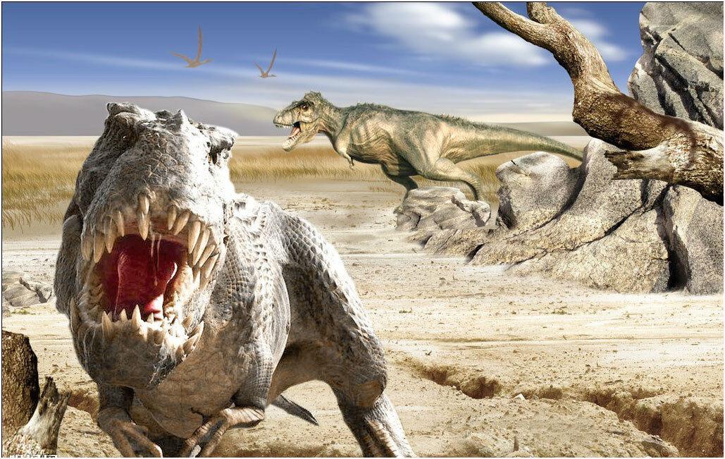 Jigsaw Puzzle 1000 Piece Huge Dinosaur Tyrannosaurus Jurassic Period YC1150