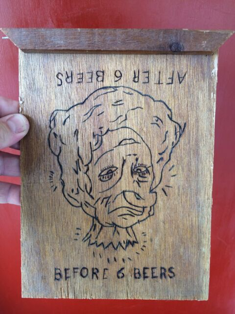 Custom Awesome Wooden Beer Sign Before 6 Beers After 6 Beers Pretty/Ugly Woman