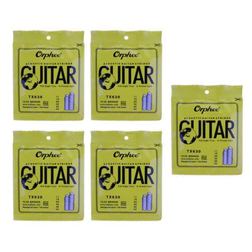 6 stücke TX630 Gitarrensaite Set für Akustische Folk Klassikgitarre Ersatz