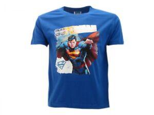 T-shirt-Originale-Superman-supereroe-ufficiale-maglia-maglietta-bimbo-bimba