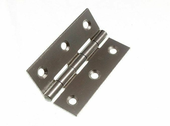 NEW 100 OF ZINC PLATED ZP STEEL BUTT HINGES 75MM 3