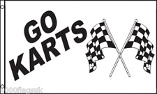 Go-Kart Go-Carts Carting Sign Advertising POS 5'x3' Flag