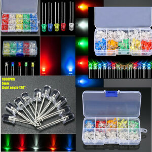 100-1000pcs-3-5mm-5-Colors-LED-Diodes-Emitting-Diode-Light-Assortment-Kit-3V