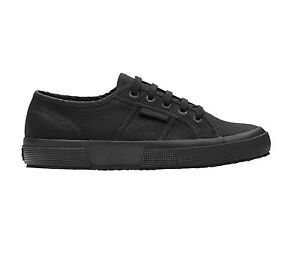 SUPERGA 2750 COTU CLASSIC S000010 TOTAL BLACK NERO N. 36 37 38 40 41 42 43 44 45