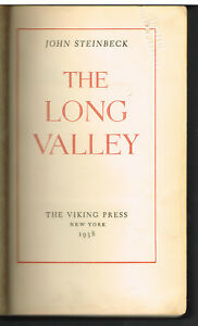 The-Long-Valley-by-John-Steinbeck-1938-1st-Ed-Vintage-Book