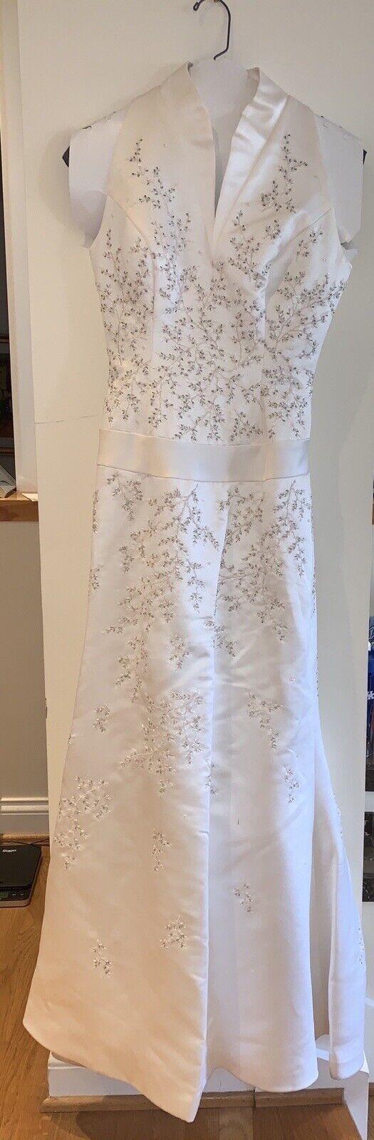 *Mint* Elegant Bridal Gown Wedding Dress SZ 6 Beaded [Bust 33 Waist 26 Hip 35]